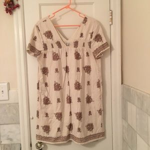 Madewell handkerchief print dress w/ slub texture